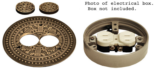 copyright design by vintage hardware this is truly a eye catcher decorative element for all outstanding construction projects - Decorative Outlet Covers